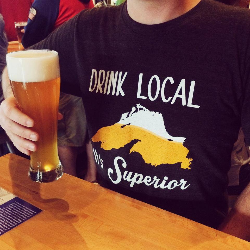 Drink Local Tee Beer Duluth Brewery