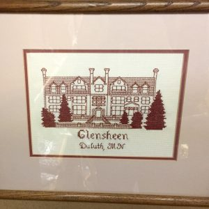 8th Street Video & Ice Cream Station on 47th | Vintage Glensheen Framed Needlepoint $14.00
