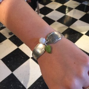 "Fig Leaf's Clothing Boutique | Silverware Bracelet by Richard Ascomb $34.00 (made in Duluth) Fig Leafs carries unique current, funky clothing and accessories for women ages 20ish to 60! Yep it's true! We believe in having fun clothing that won""t make you feel frumpy!!! We shop major apparrel markets in the U.S."