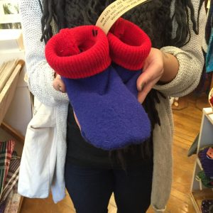 Art Dock | Wooly Wearables Slippers $18.00 - $36.00 (made in Duluth) Art Dock features work of the Northland and Lake Superior including a fine selection of pottery, jewelry, photographs, prints, paintings, fiber, stained glass, cards, woodcrafts, CD's by local musicians, framing service and much more.