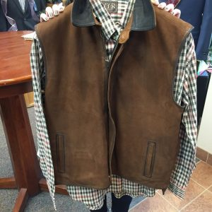 Maintstream Fashions for Men | Leather Vest $595.00 The Mainstream Difference: Hospitality, fine clothing, and unsurpassed customer service.